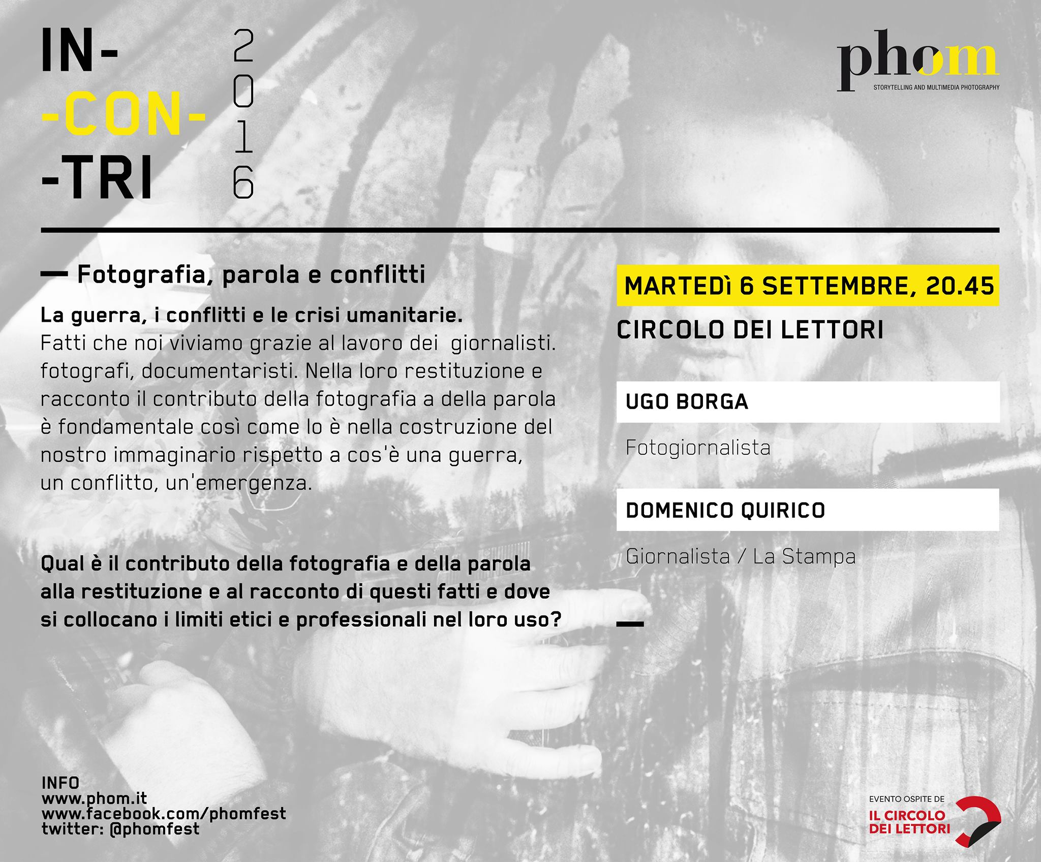 Fotografia di conflitti e guerre. Ne parlano Ugo Borga e Domenico Quirico a Torino