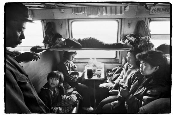 Chinese People on the Train. © Wang Fuchun