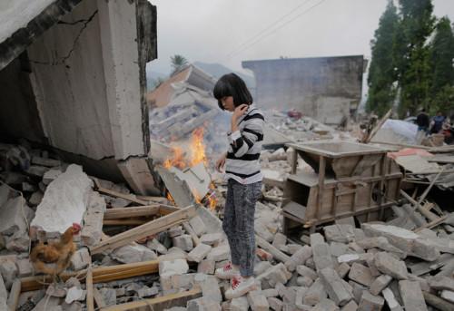 fotografia terremoto Sichuan