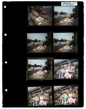 GB. England. New Brighton. Last Resort contact sheet. 1985.