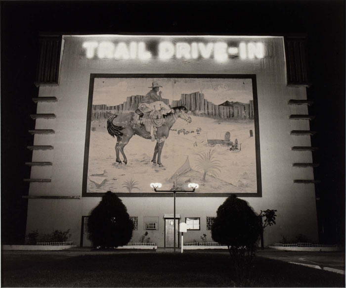 Steve Fitch, Drive-In Theatre, San Antonio, Texas, 1973, gelatin silver print, Smithsonian American Art Museum, Transfer from the National Endowment for the Arts, ©1973, Steve Fitch
