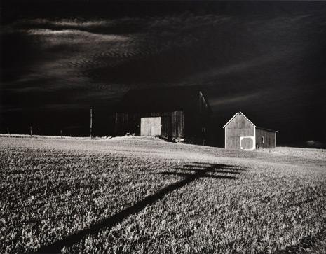 Minor White Two Barns, Dansville, New York, 1955 Gelatin silver print