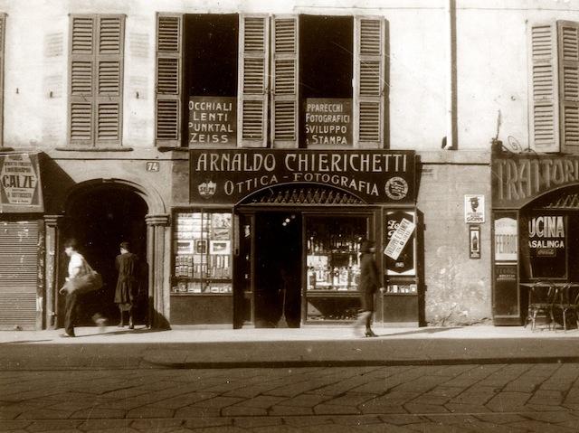 Arnaldo Chierichetti, Il primo negozio, © Arnaldo Chierichetti