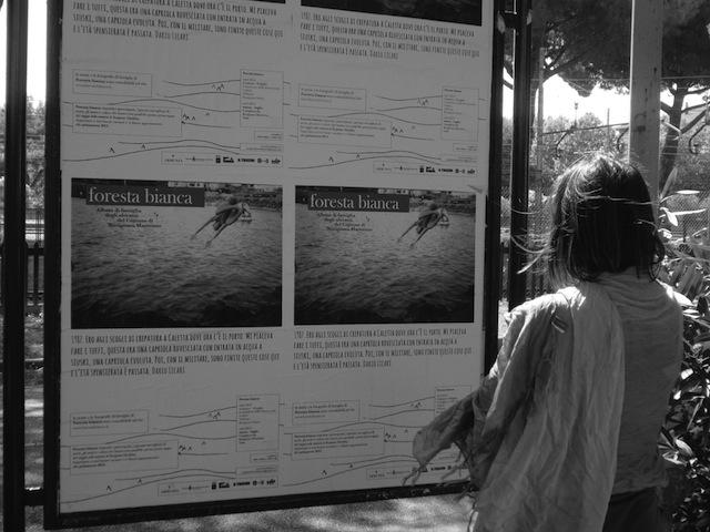 Affissioni pubbliche, foto tratta dal sito dedicato al progetto Foresta Bianca