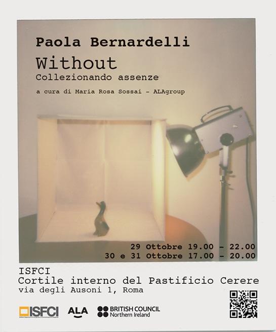 """Il progetto """"Without"""" di Paola Bernardelli"""