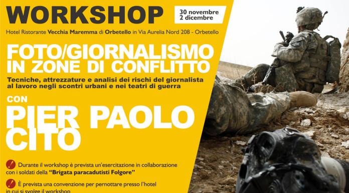 Fotogiornalismo in zone di conflitto workshop cito