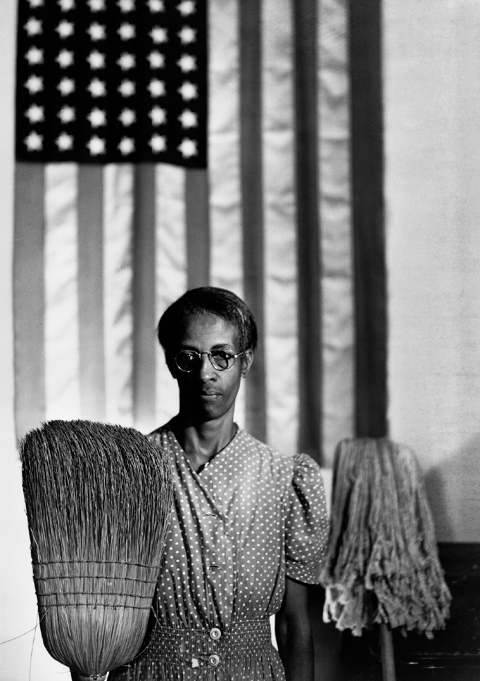 Gordon Parks, American Gothic, Ella Watson, Washington, D.C., 1942 copyright © The Gordon Parks Foundation