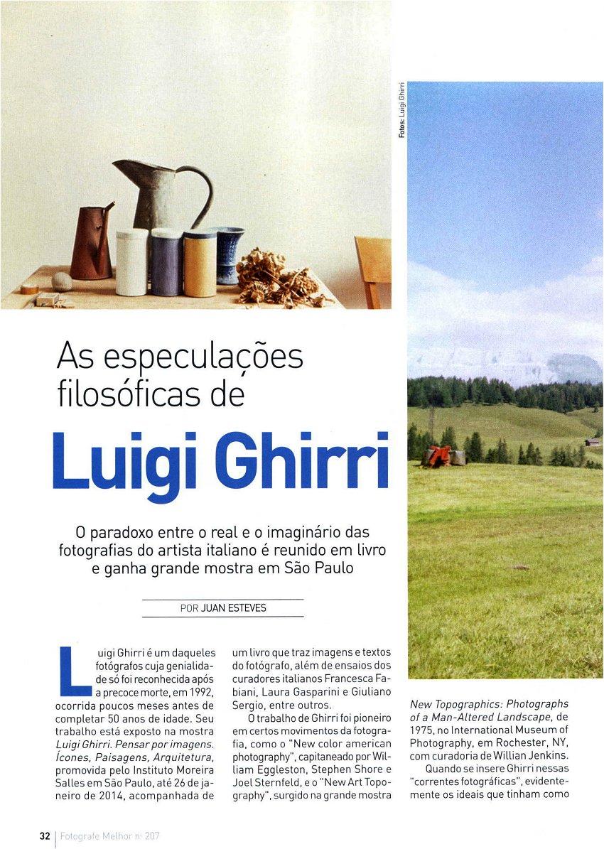 La rivista Fotografe Melhor dedica ampio spazio alla mostra di Ghirri