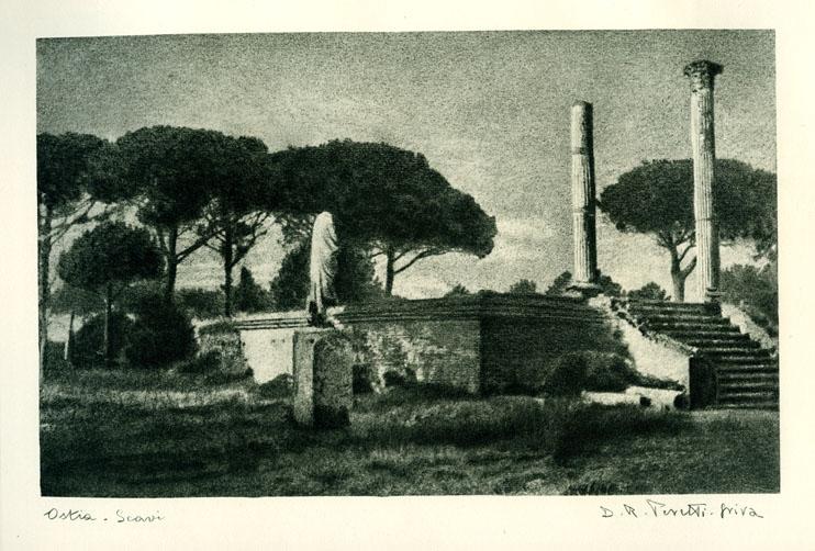 Riccardo Peretti Griva, Ostia, scavi archeologici, 1949