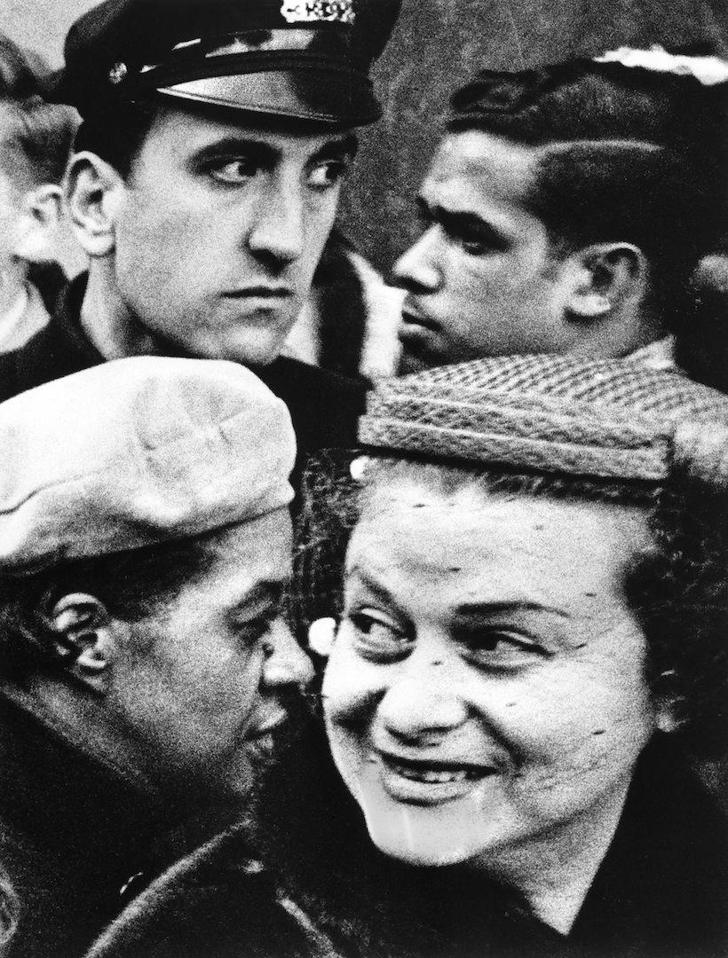 4 heads, New York 1955 © William Klein