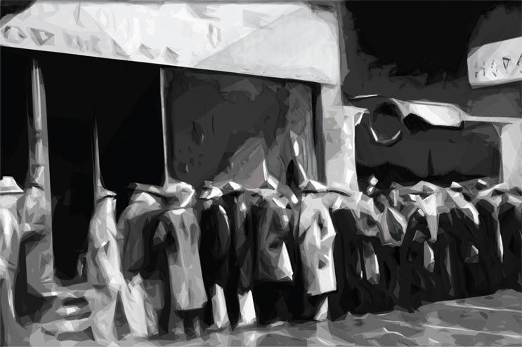 Francesco Speranza, l'Attesa, illustrazione digitale