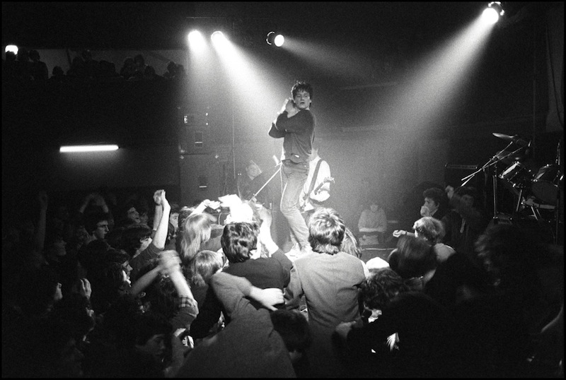 Bono of U2 performing at The Country Club, Cork on 9 February 1980 © David Corio