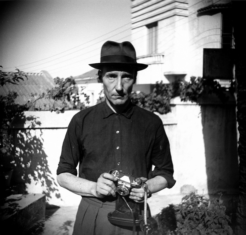 Unknown Photographer Burroughs in the Hotel Villa Mouniria Garden, Tangier Scan from negative 5.6 x 5.8 cm © Estate of William S. Burroughs Courtesy of the William S. Burroughs Estate