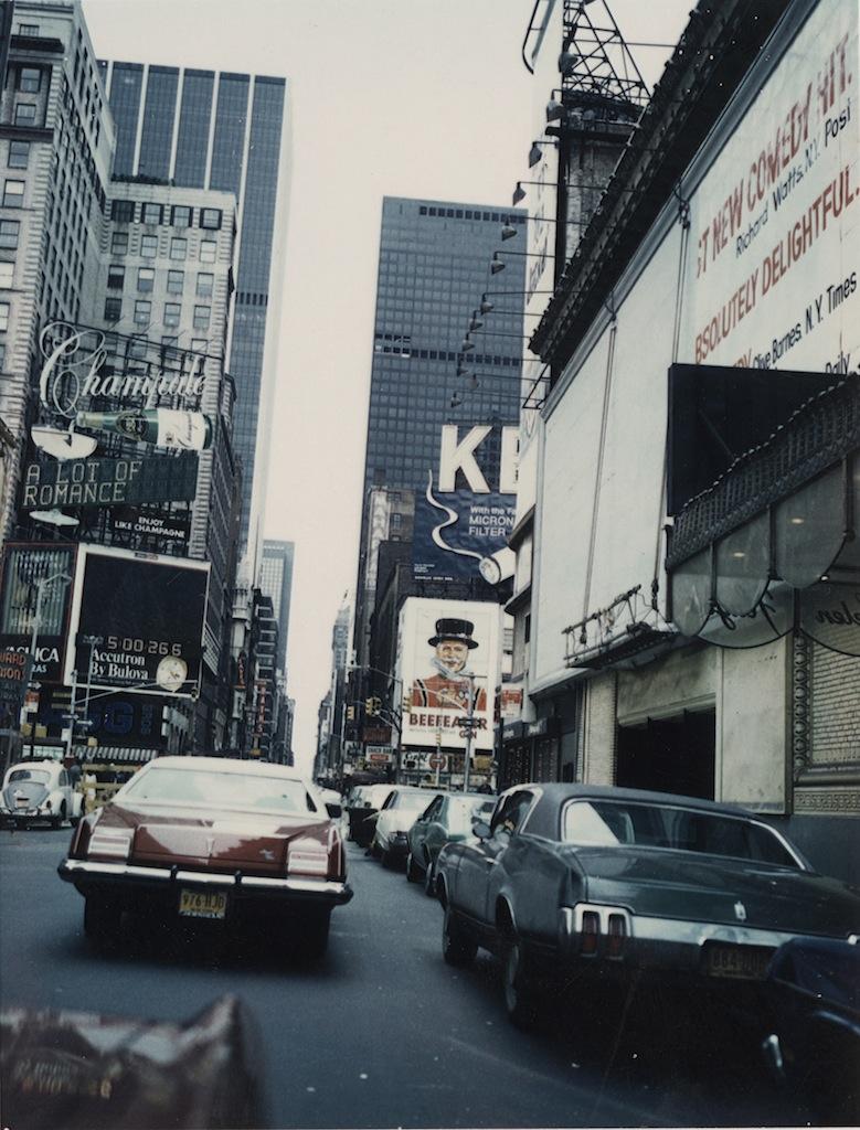 William S. Burroughs Midtown Manhattan, 1965 C-type print, 7.3 x 5.9 cm © Estate of William S. Burroughs Courtesy of the Barry Miles Archive