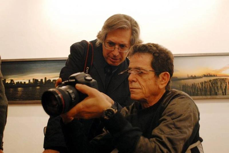 Guido Harari - Guido Harari e Lou Reed © Wall of Sound
