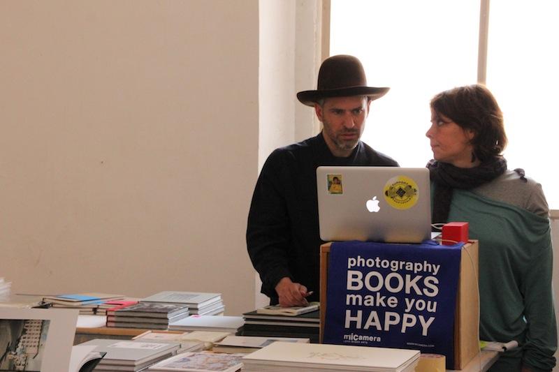 Chanarin ospite del bookshop di Micamera allestito ai Chiostri di San Pietro