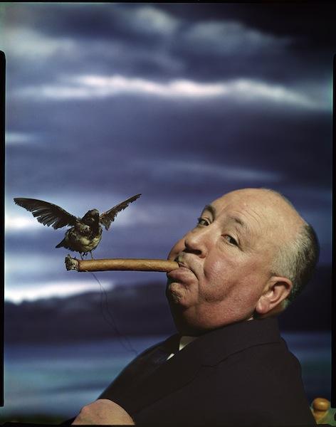Philippe Halsman, Alfred Hitchcock for the promotion of the film The Birds, 1962 Musée de l'Elysée © 2013 Philippe Halsman Archive / Magnum Photos