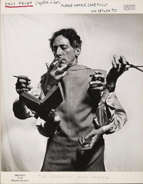 Philippe Halsman, The Versatile Jean Cocteau, 1949 Philippe Halsman Archive © 2013 Philippe Halsman Archive / Magnum Photos