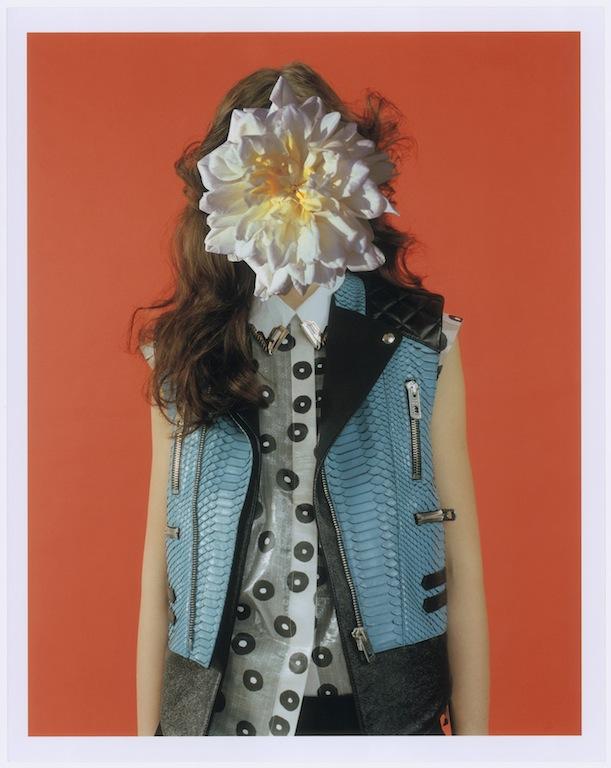 valerija with flower over whole face 2011 c mel bles collaboration with linder sterling for pop magazine courtesy stuart shave modern art london