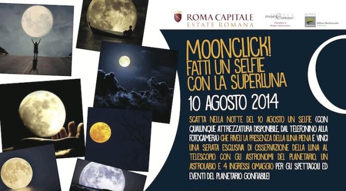 Moonclick fatti un selfie con la superluna