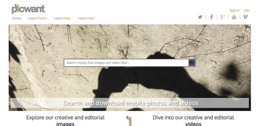 picwant app per vendere foto e video