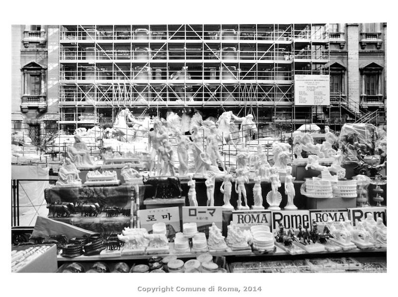 Mario Cresci Fontana di Trevi in restauro, 1990 Gelatina ai sali d'argento,