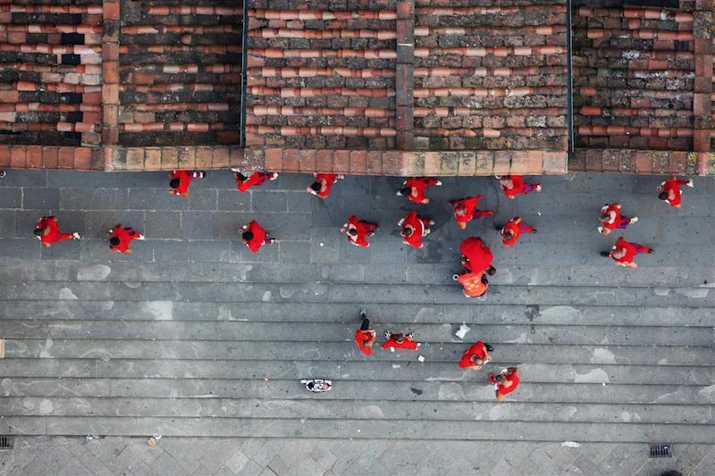 029592 20080624 205550+0100 20080624 141220+0000 © 2008 Massimo Sestini news pictures, all rights reserved Firenze, i rossi vincono la finale del Calcio Storico Fiorentino in Piazza Santa Croce © Massimo Sestini/Polizia di Stato T÷ p0ó