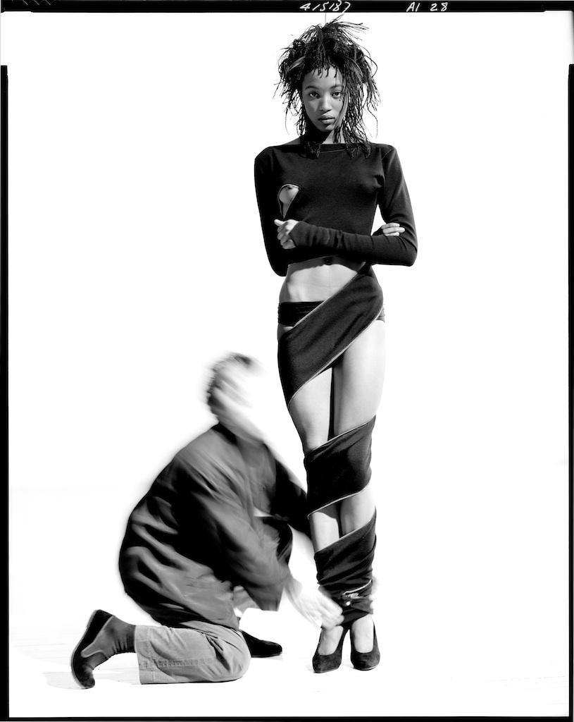 Azzedine Alaïa e Naomi Campbell, 1987 © Arthur Elgort, courtesy Galleria Carla Sozzani, Milano