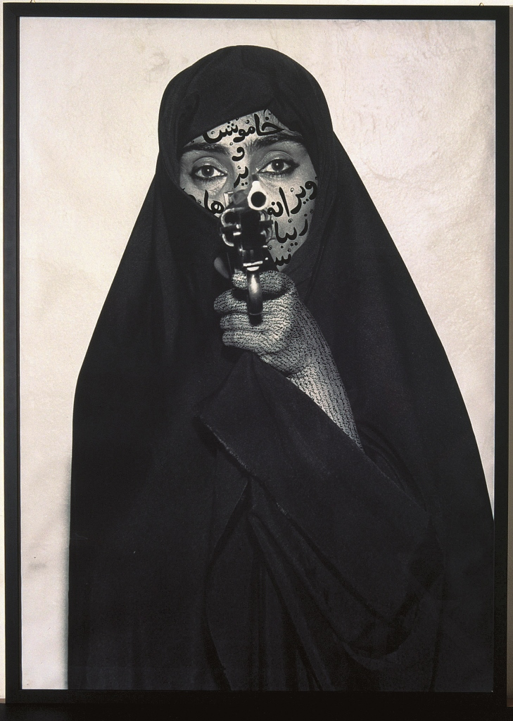 Shirin Neshat Faceless, from Women of Allah Series, 1994 © Shirin Neshat / Courtesy Fondazione Sandretto Re Rebaudengo