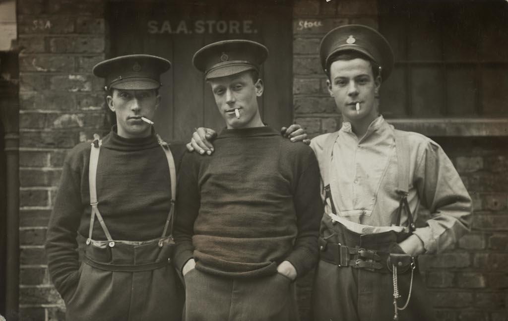 Life Guards S. Raper, Sidney Crockett and William H. Beckham, 13 September 1915 © Christina Broom/Museum of London