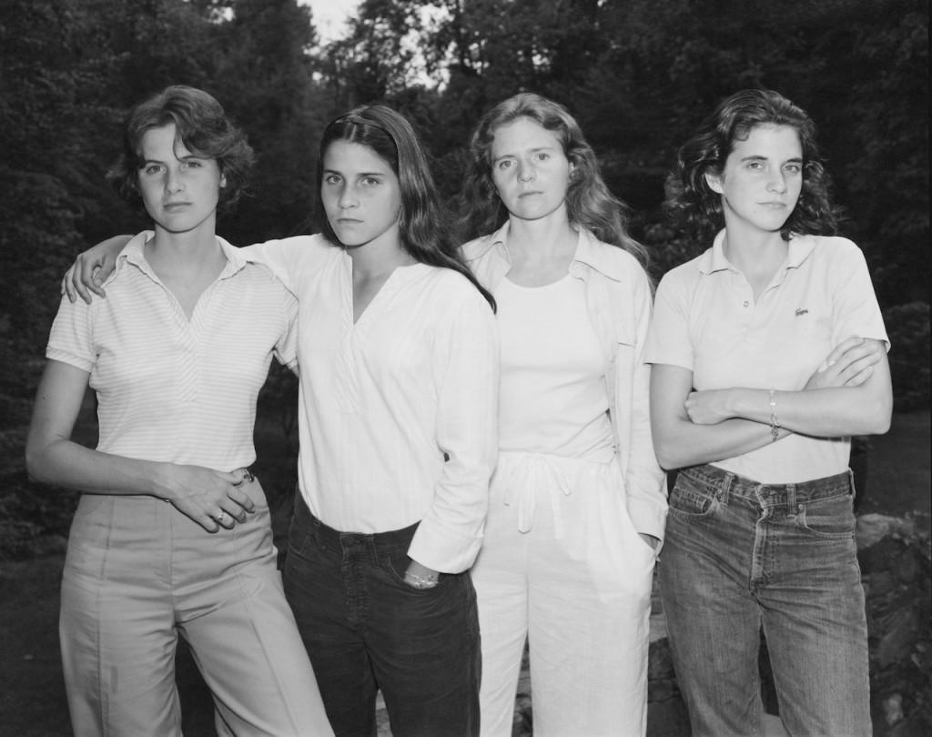 The Brown Sisters, 1974-‐2014. 40 silver prints, 45.5 x 57.1 cm each © Nicholas Nixon. Courtesy Fraenkel Gallery, San Francisco