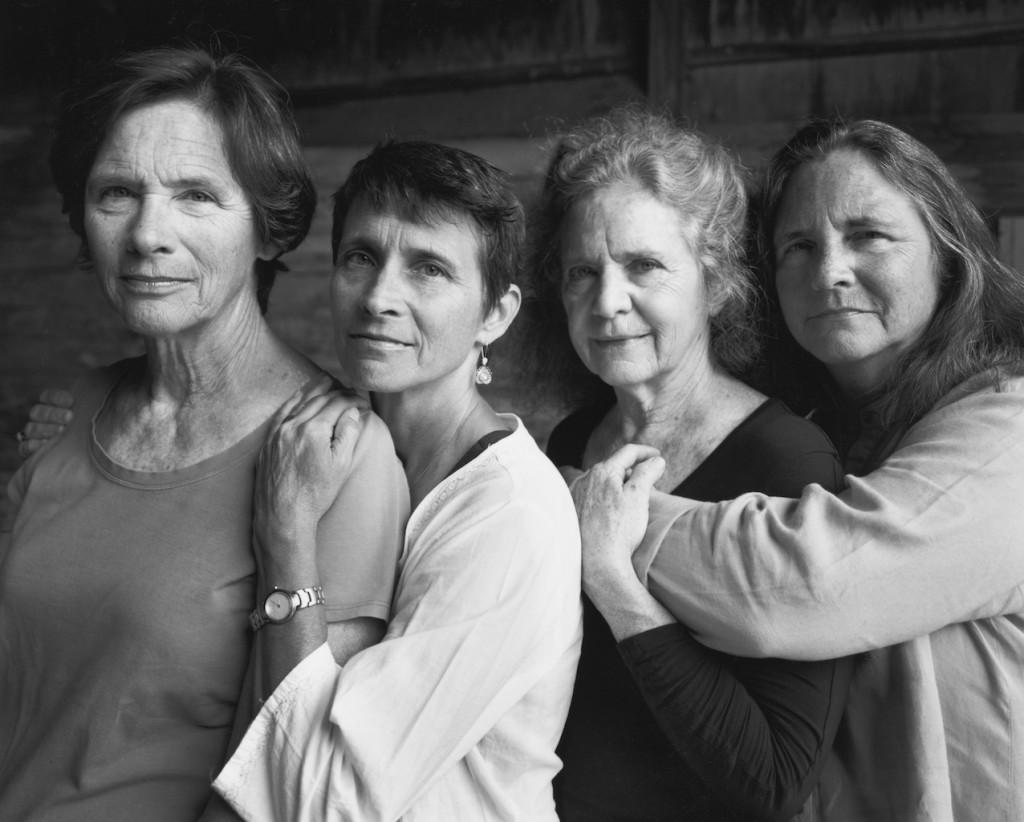 The Brown Sisters, 1974-‐2014. 40 silver prints, 45.5 x 57.1 cm each © Nicholas Nixon, Courtesy Fraenkel Gallery, San Francisco