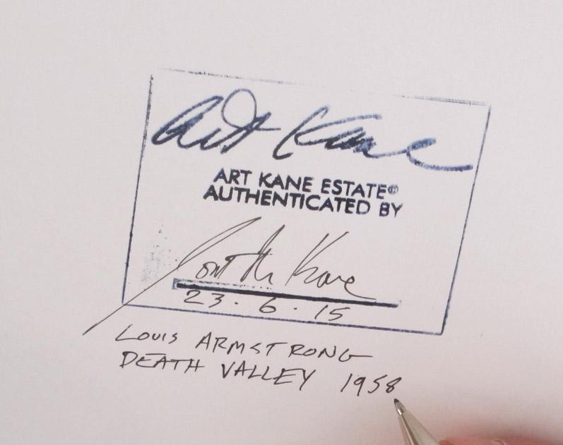 Art Kane, Louis Armstrong, Death Valley, Esquire 1958, © ART KANE ARCHIVE © Gslleria civica di Modena, Raccolta della  fotografia