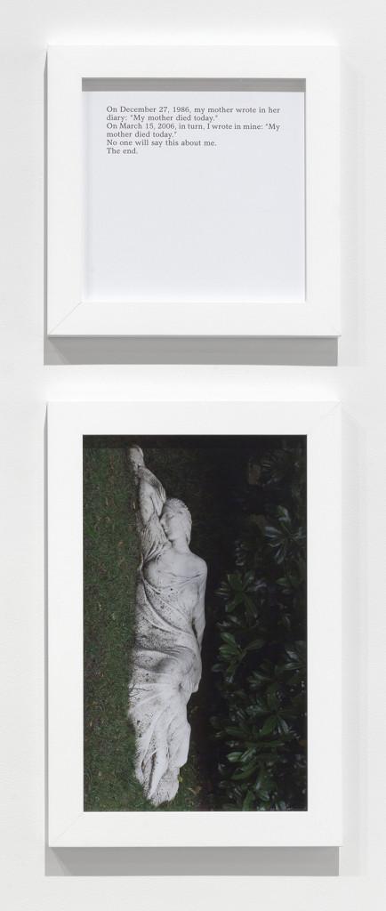 SOPHIE CALLE Aujourd'hui ma mère est morte/My mother died today 2013 © Sophie Calle/ADAGP, Paris 2015, courtesy Galerie Perrotin, Paris