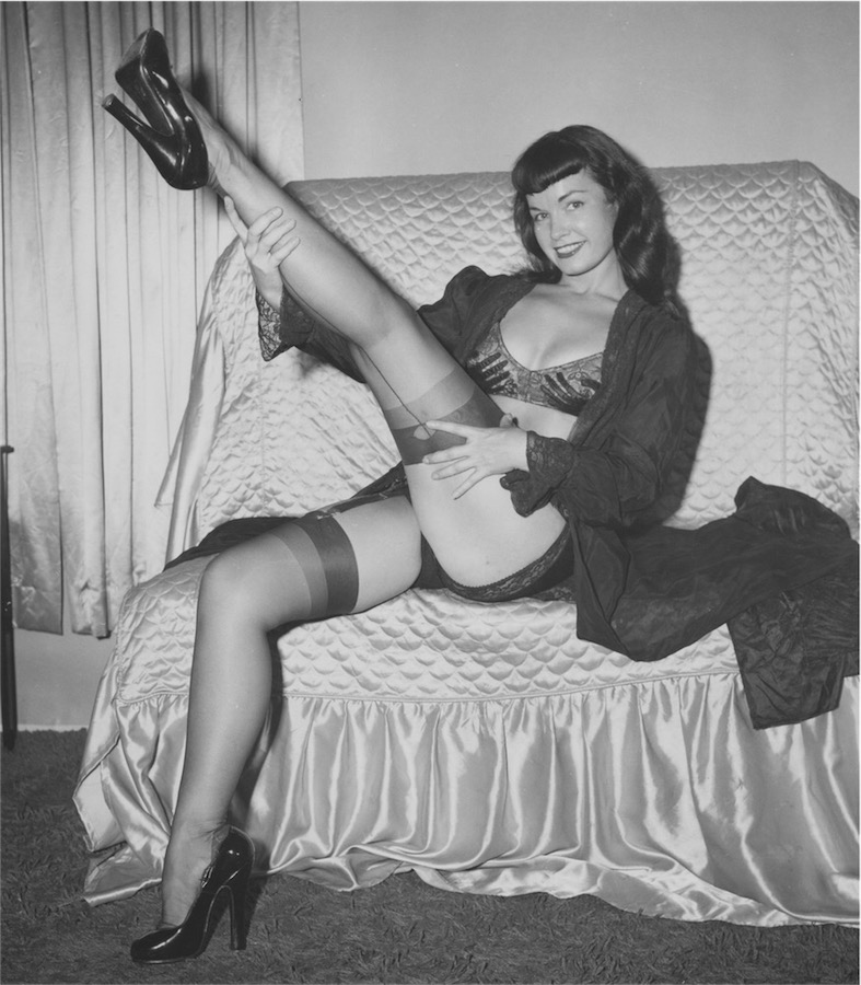 ©Irving & Paula Klaw, Bettie Page, 1953 ca., Courtesy of Michael Fornitz Collection