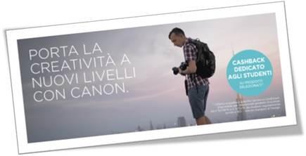 Canon Cashback per gli studenti dello IED