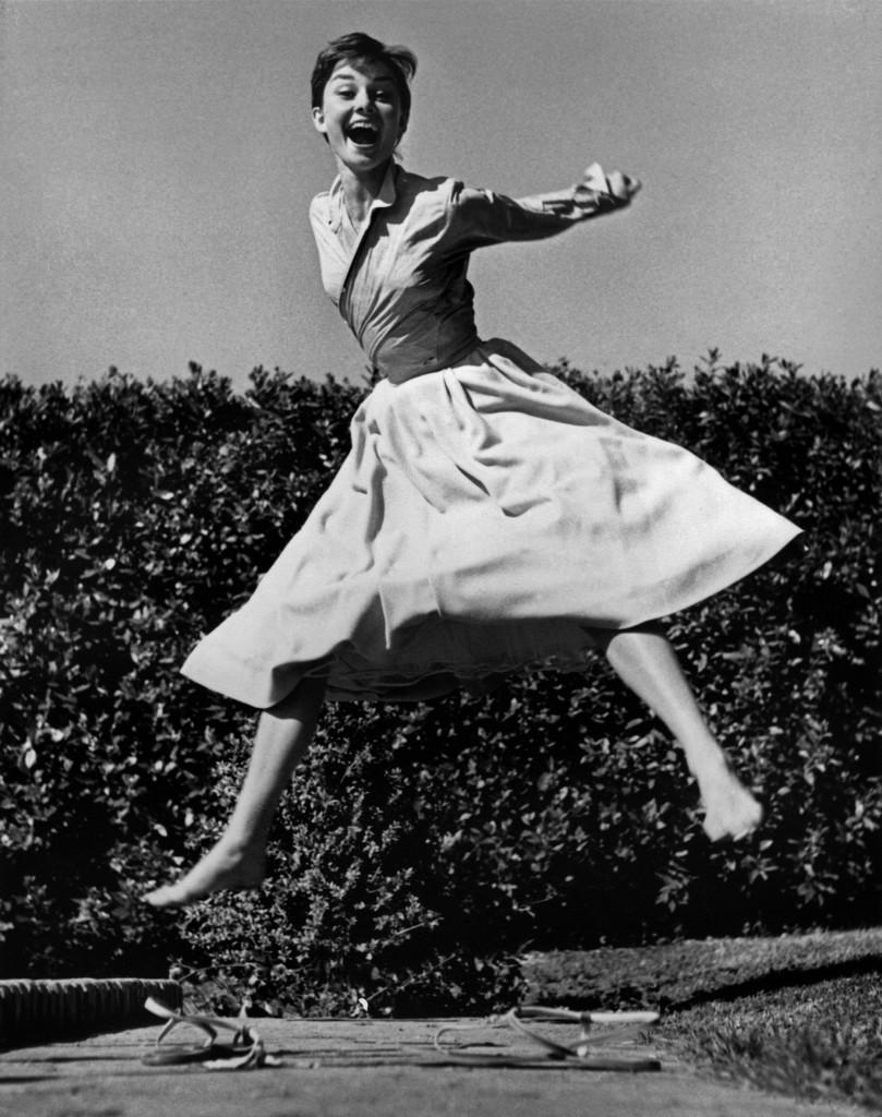 Dutch actress Audrey HEPBURN. 1955. © Philippe_Halsman
