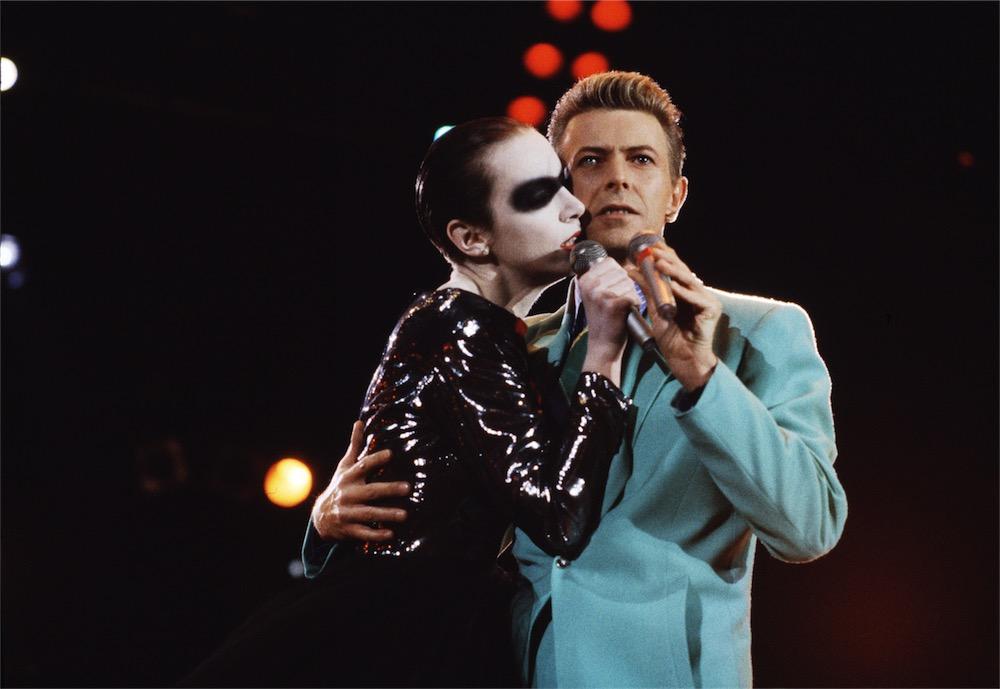 Bowie, Lennox, concerto-tributo a Freddie Mercury 1992 ©Michael Putland