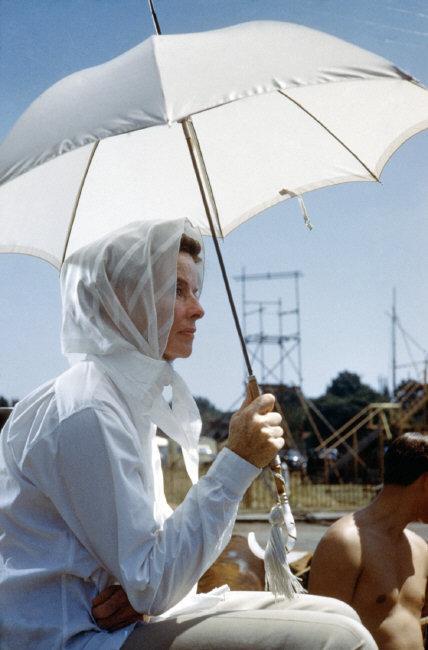"""Katharine Hepburn during the filming of """"Suddenly Last Summer"""". London, England, 1959  © Burt Glinn / Magnum Photos"""