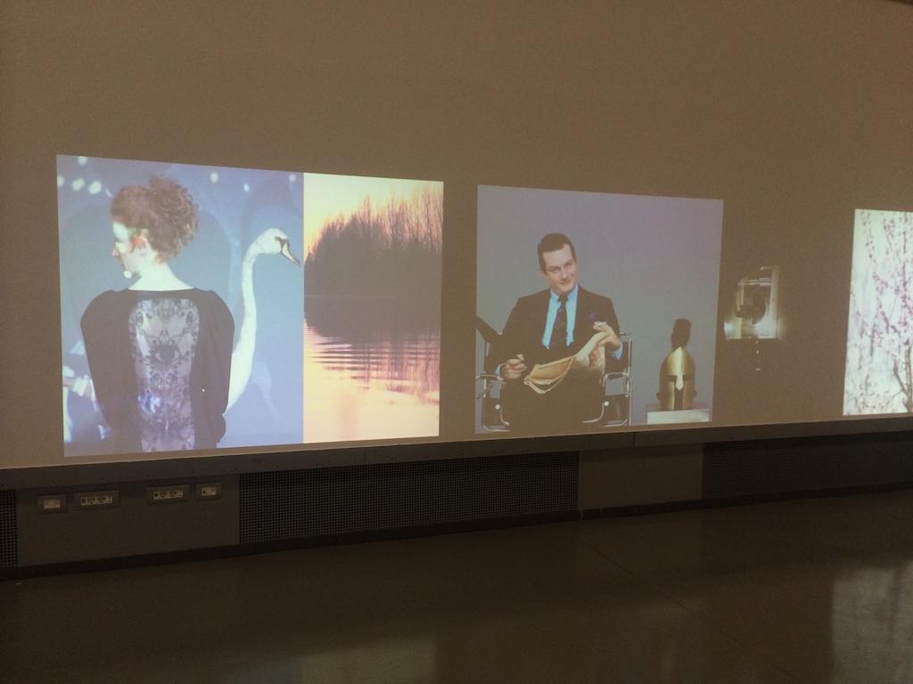 Mustafa Sabbagh, Antro-pop-gonia, 2015 – Installazione audio/video: 7HD video da videoproiettori LCD, dimensioni ambientali
