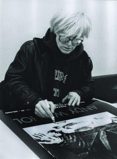 Andy Warhol, Fondazione Stelline, Milano 1987 - © Maria Mulas