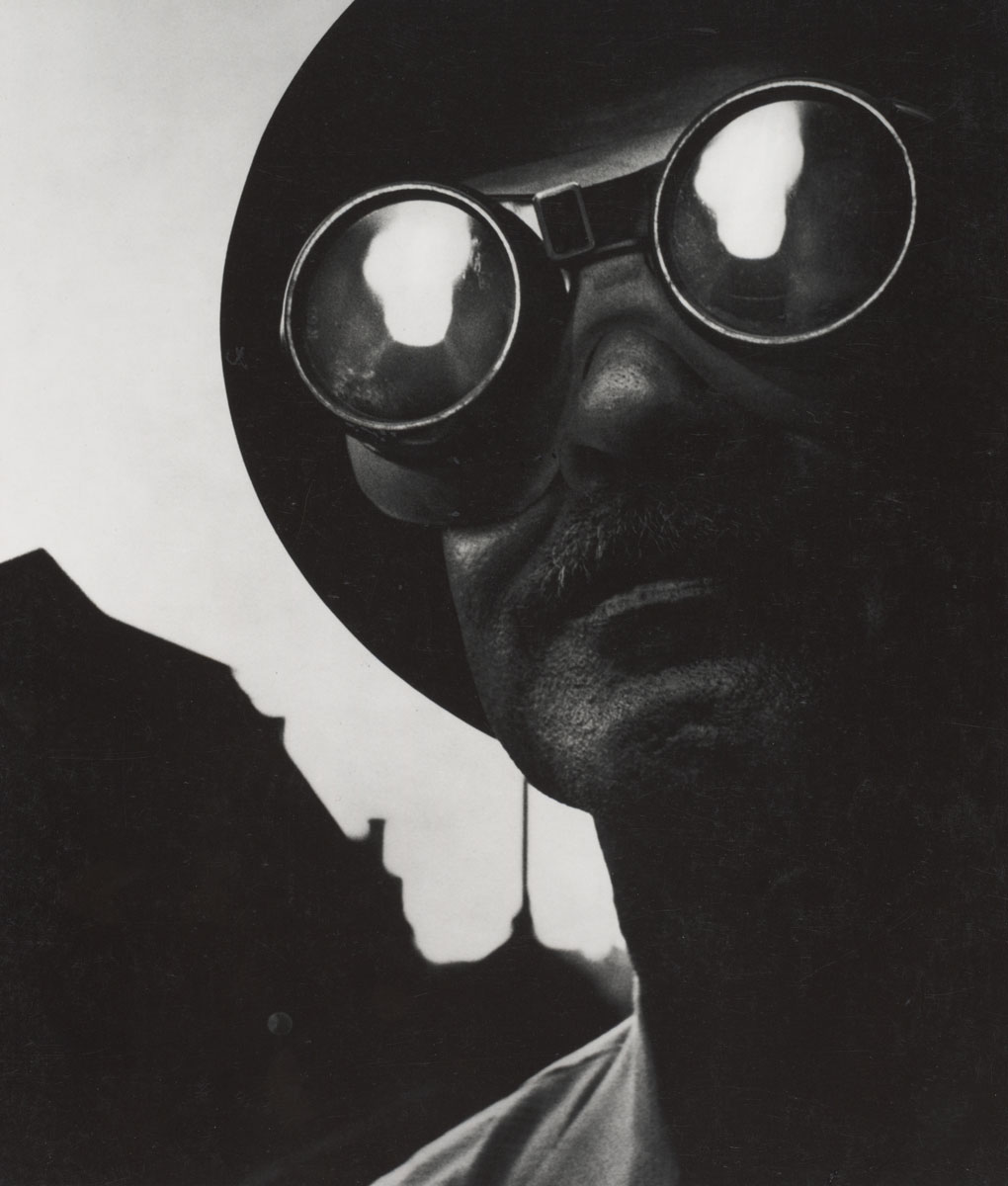 W. Eugene Smith, Steelworker with Goggles, Pittsburgh, 1955, ©The Heirs of W. Eugene Smith