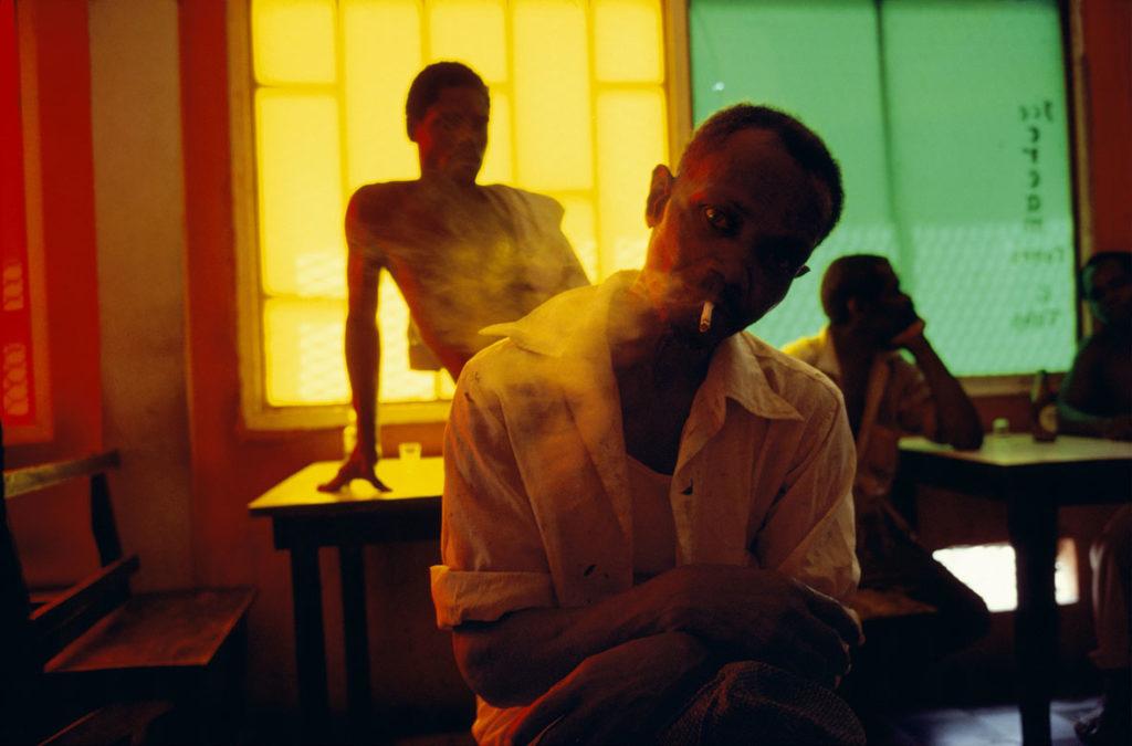 Alex Webb, Grenada. Gouyave. Bar. 1979.
