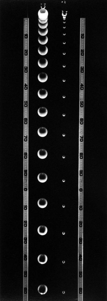 falling balls of Unequal Mass 1958-61 berenice abbott