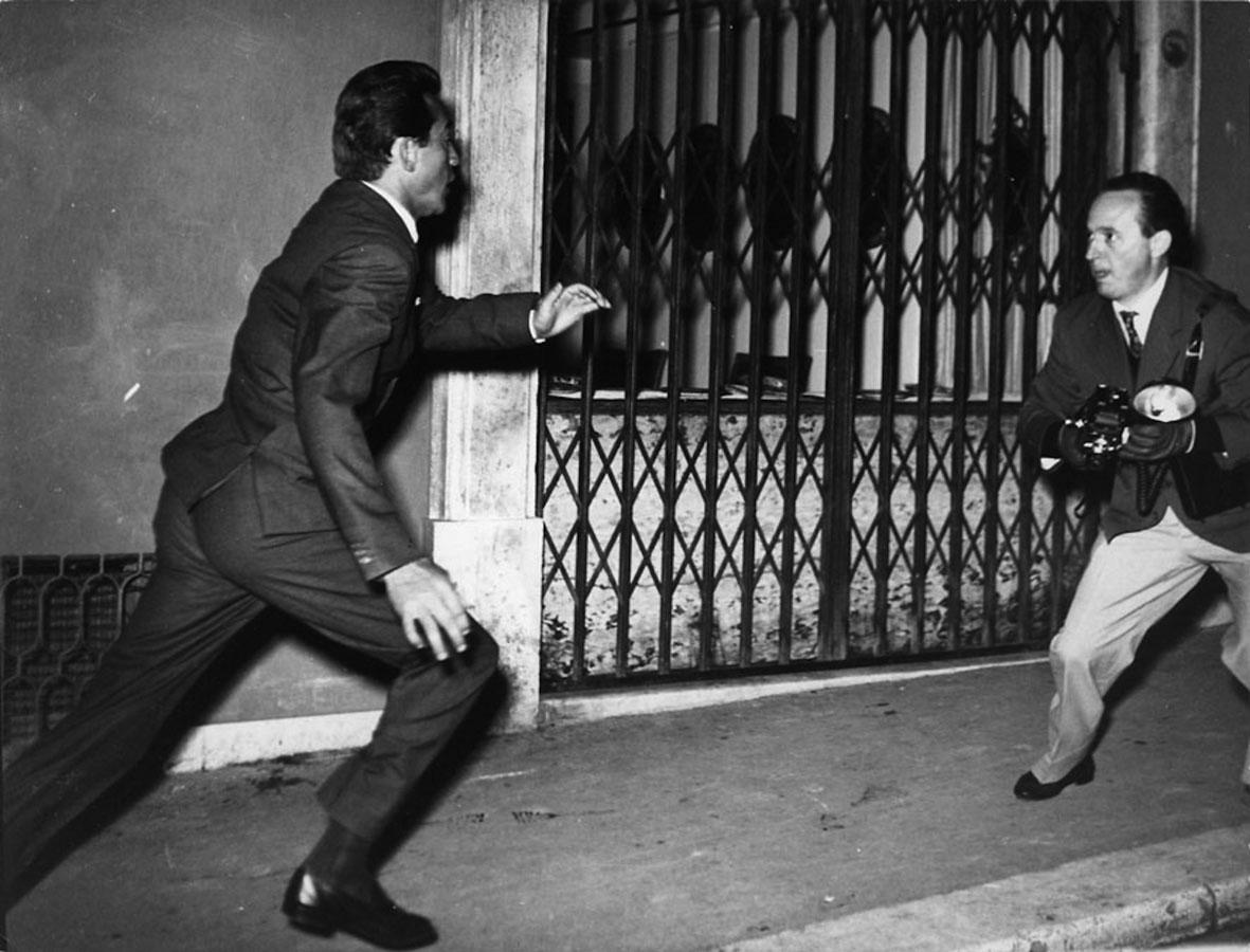 Elio Sorci, Walter Chiari e Tazio Secchiaroli, Roma, 1958. ©Tazio Secchiaroli/David Secchiaroli