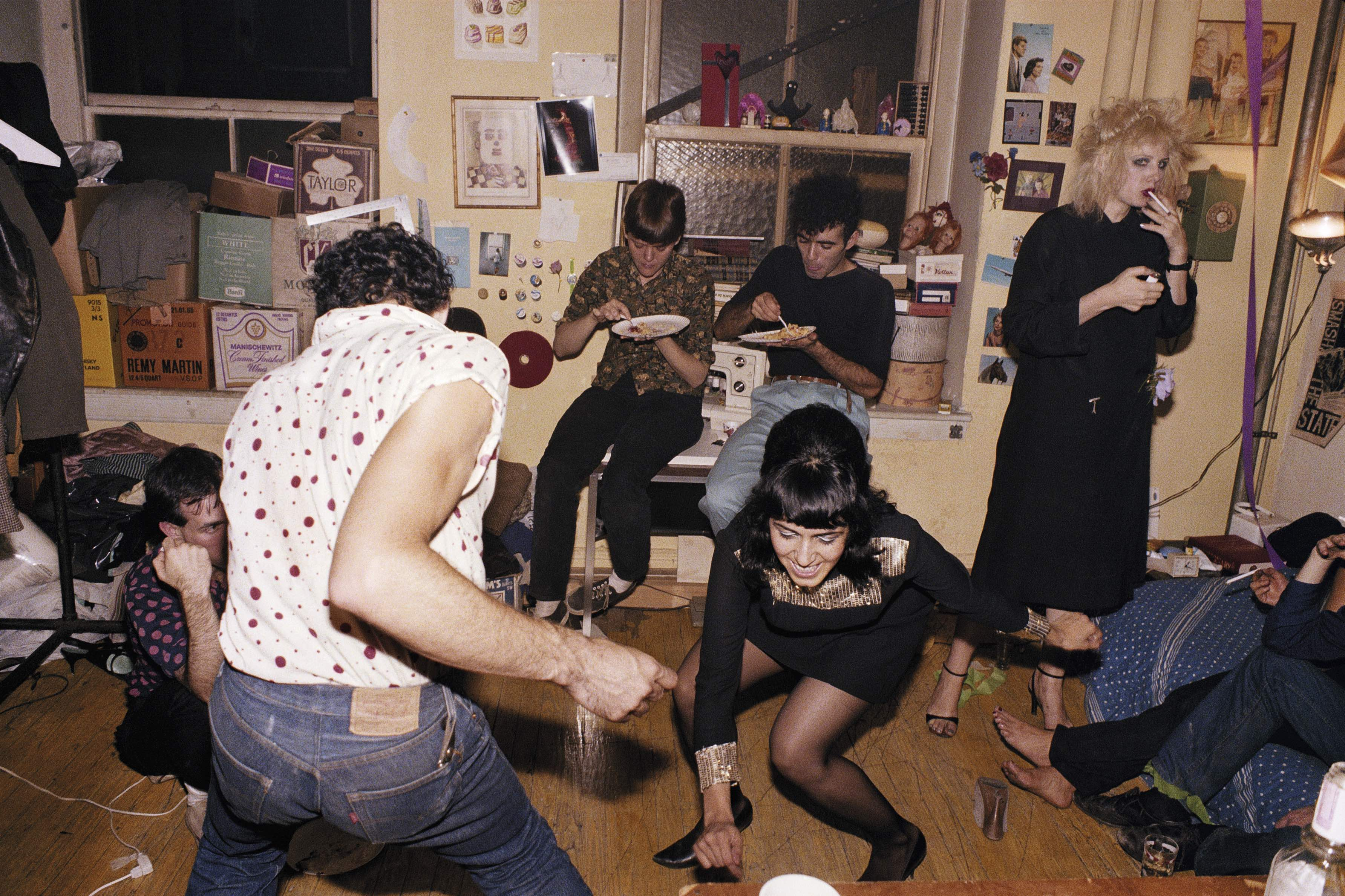 Nan Goldin, Twisting at my birthday party, New York City