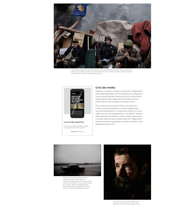 indagine di ricerca Canonsul potere del visual storytelling nella società moderna