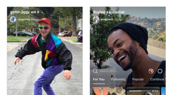 Igtv Instagram caricare video verticali di un'ora