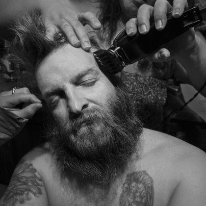 Larry Fink mostra torino Dennys Haircut