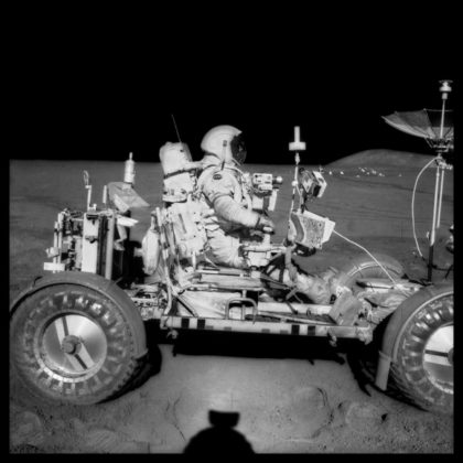 Michael Light Full Moon danzing gallery new york David Scott Drives the First Lunar Rover